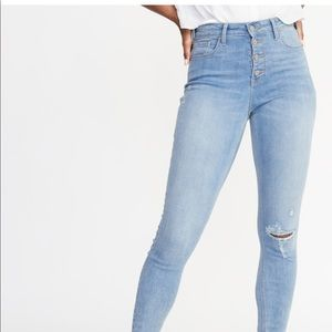 High-Rise Distressed Rockstar Ankle Jeans